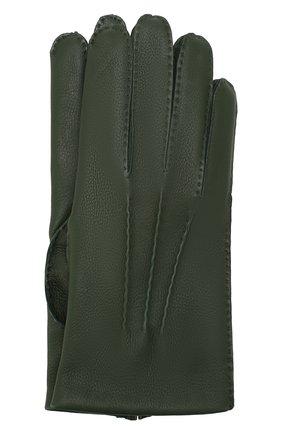 Мужские кожаные перчатки DENTS темно-зеленого цвета, арт. 5-1545 | Фото 1