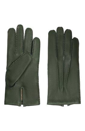 Мужские кожаные перчатки DENTS темно-зеленого цвета, арт. 5-1545 | Фото 2