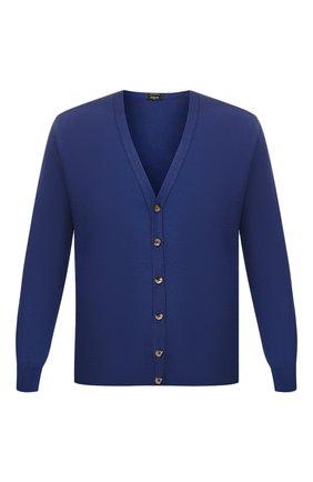 Мужская шерстяной кардиган SVEVO синего цвета, арт. 1318SA19/MP13   Фото 1