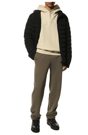 Мужские кожаные кеды INUIKII черного цвета, арт. 50202-56 | Фото 2