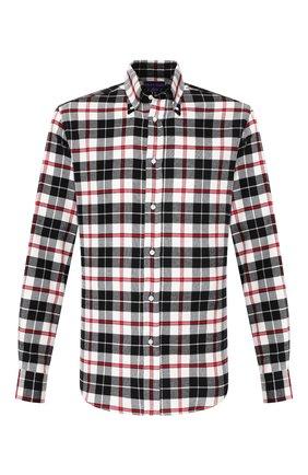 Мужская хлопковая рубашка RALPH LAUREN черно-белого цвета, арт. 790765533 | Фото 1
