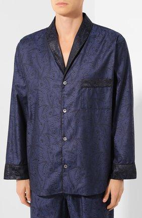 Мужская хлопковая пижама ZIMMERLI темно-синего цвета, арт. 4737-75013 | Фото 2