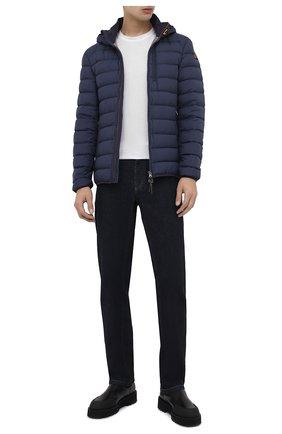 Мужская пуховая куртка last minute PARAJUMPERS темно-синего цвета, арт. SL02/LAST MINUTE | Фото 2 (Мужское Кросс-КТ: Пуховик-верхняя одежда, Верхняя одежда, пуховик-короткий; Длина (верхняя одежда): Короткие; Материал внешний: Синтетический материал; Рукава: Длинные; Материал подклада: Синтетический материал; Кросс-КТ: Пуховик, Куртка; Статус проверки: Проверена категория; Материал утеплителя: Пух и перо)