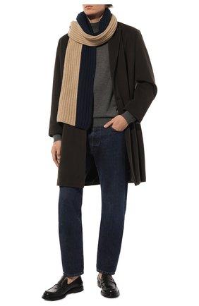 Мужской кашемировый шарф LORO PIANA бежевого цвета, арт. FAI8788 | Фото 2