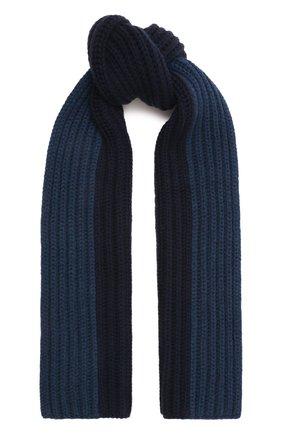 Мужской кашемировый шарф LORO PIANA темно-синего цвета, арт. FAI8788 | Фото 1