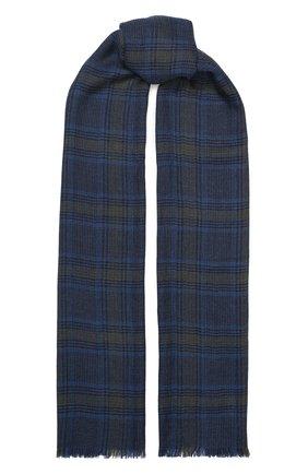 Мужской шарф из смеси кашемира и шелка LORO PIANA синего цвета, арт. FAI8602 | Фото 1