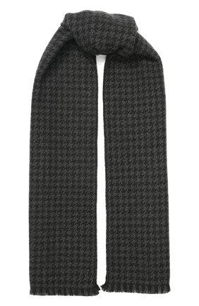 Мужской кашемировый шарф LORO PIANA серого цвета, арт. FAI7223 | Фото 1