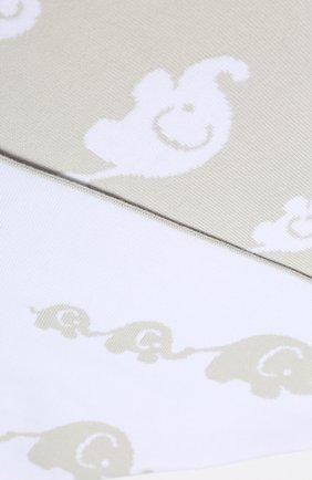Детского хлопковое одеяло KISSY KISSY серого цвета, арт. L032BLEL   Фото 2