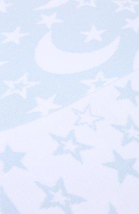 Детского хлопковое одеяло KISSY KISSY голубого цвета, арт. L032BLMS   Фото 2