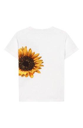 Детский хлопковая футболка DOLCE & GABBANA белого цвета, арт. L2JTAZ/G7TTI | Фото 2