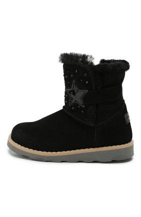 Детские замшевые ботинки WALKEY черного цвета, арт. Y1A6-40616-0421/19-24 | Фото 2