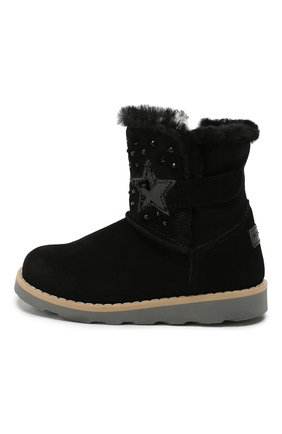 Детские замшевые ботинки WALKEY черного цвета, арт. Y1A6-40616-0421/25-29 | Фото 2