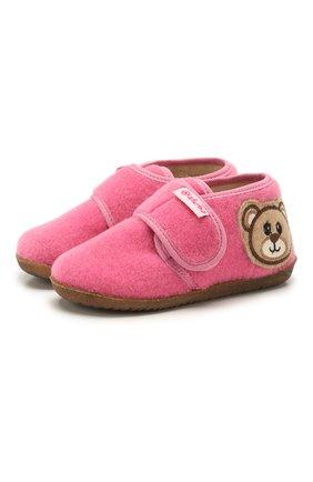 Детского домашние ботинки NATURINO розового цвета, арт. 0014000639/01/27-29 | Фото 1