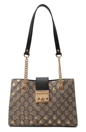 Женская сумка padlock small GUCCI бежевого цвета, арт. 498156/9F26G | Фото 1