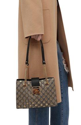 Женская сумка padlock small GUCCI бежевого цвета, арт. 498156/9F26G | Фото 2