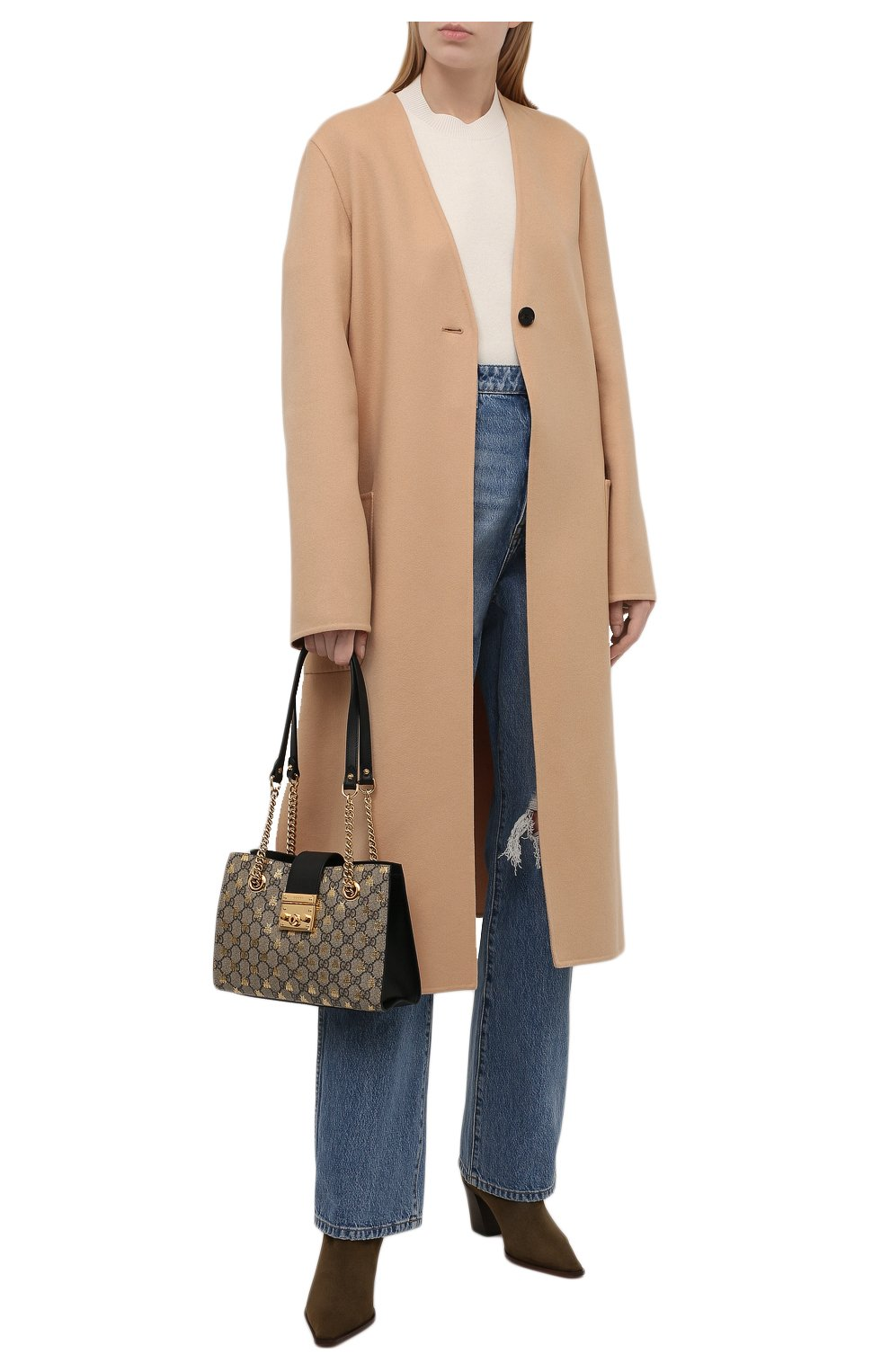 Женская сумка padlock small GUCCI бежевого цвета, арт. 498156/9F26G | Фото 3