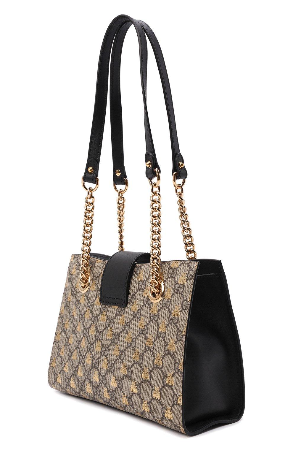 Женская сумка padlock small GUCCI бежевого цвета, арт. 498156/9F26G | Фото 4