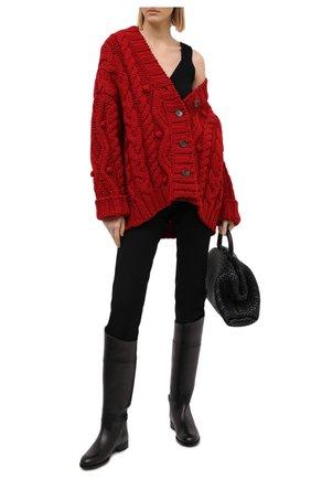 Женские кожаные сапоги RALPH LAUREN черного цвета, арт. 800692400   Фото 2