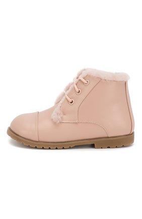 Детские кожаные ботинки AGE OF INNOCENCE розового цвета, арт. 000024/Z0EY LEATHER/27-33 | Фото 2