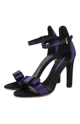 Женские текстильные босоножки daylen RALPH LAUREN фиолетового цвета, арт. 800782711 | Фото 1