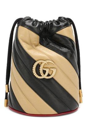 Женская сумка gg marmont mini GUCCI бежевого цвета, арт. 573817/00LQX | Фото 1