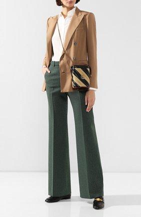 Женская сумка gg marmont mini GUCCI бежевого цвета, арт. 573817/00LQX | Фото 2