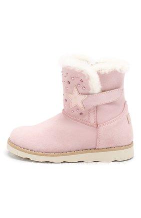 Детские замшевые ботинки WALKEY светло-розового цвета, арт. Y1A6-40616-0421/25-29 | Фото 2