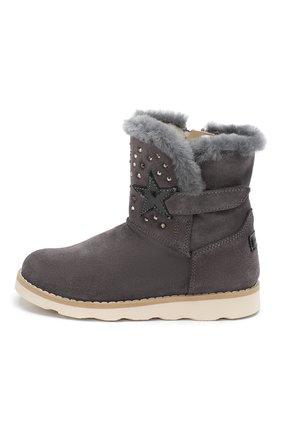Детские замшевые ботинки WALKEY серого цвета, арт. Y1A6-40616-0421/25-29 | Фото 2