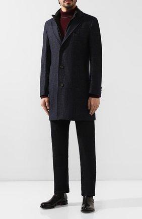 Пальто из смеси шерсти и хлопка | Фото №2