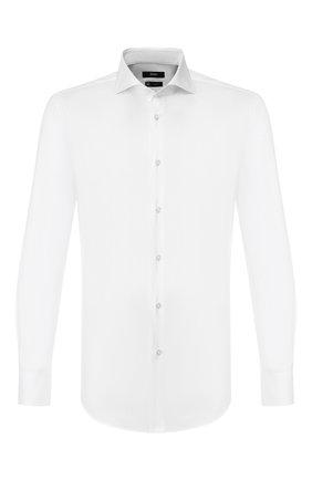 Мужская хлопковая сорочка BOSS белого цвета, арт. 50415990 | Фото 1
