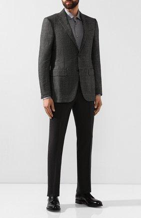 Мужская хлопковая сорочка ZILLI серого цвета, арт. MFS-00301-56052/RJ01 | Фото 2