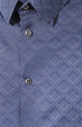 Мужская хлопковая сорочка GIORGIO ARMANI голубого цвета, арт. 8WGCCZ97/TZ419   Фото 5