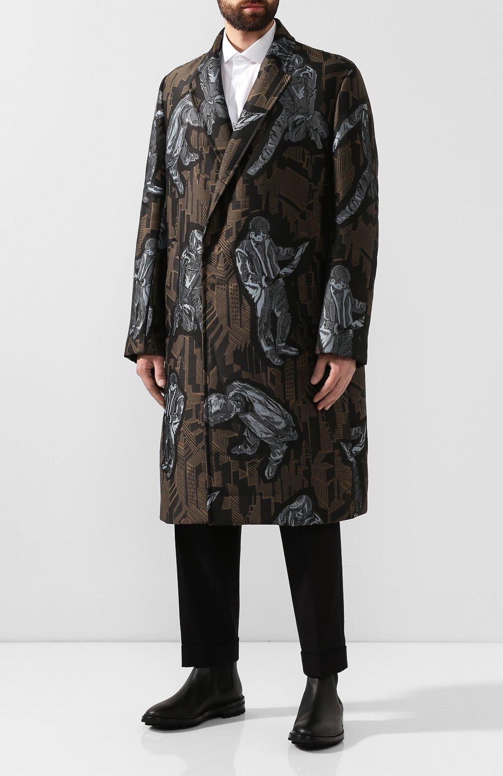 Мужские кожаные челси GIORGIO ARMANI черного цвета, арт. X2M296/XF407   Фото 2