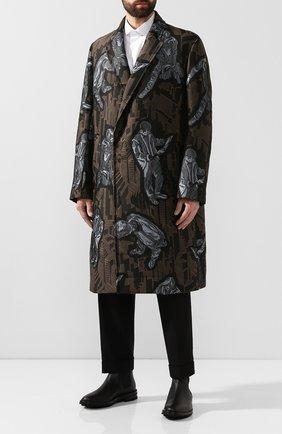 Мужские кожаные челси GIORGIO ARMANI черного цвета, арт. X2M296/XF407 | Фото 2