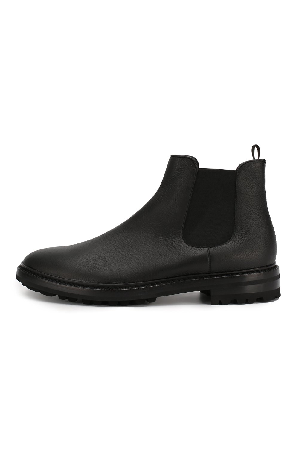 Мужские кожаные челси GIORGIO ARMANI черного цвета, арт. X2M296/XF407   Фото 3