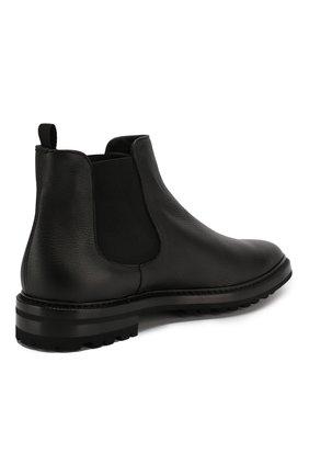 Мужские кожаные челси GIORGIO ARMANI черного цвета, арт. X2M296/XF407   Фото 4