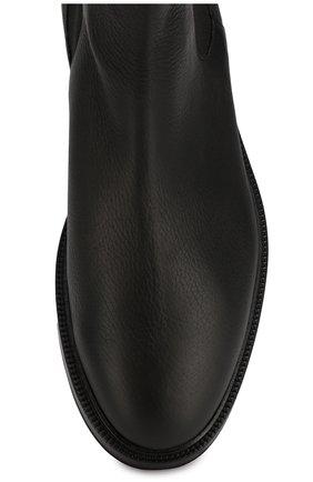 Мужские кожаные челси GIORGIO ARMANI черного цвета, арт. X2M296/XF407   Фото 5