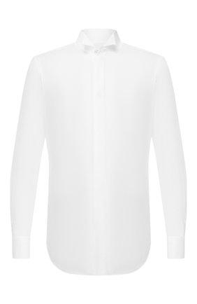 Мужская хлопковая сорочка KITON белого цвета, арт. UCIH0660201/P5 | Фото 1
