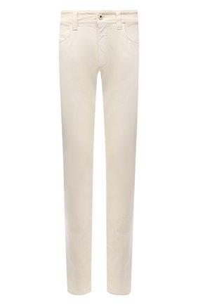 Мужские джинсы LORO PIANA белого цвета, арт. FAG4511 | Фото 1