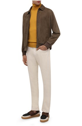 Мужские джинсы LORO PIANA белого цвета, арт. FAG4511 | Фото 2