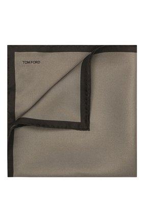 Мужской шелковый платок TOM FORD коричневого цвета, арт. TFZ93/TF312   Фото 1