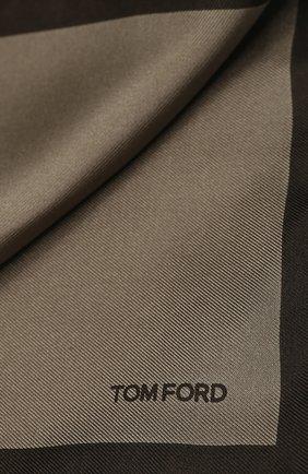 Мужской шелковый платок TOM FORD коричневого цвета, арт. TFZ93/TF312   Фото 2