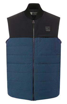 Мужской комбинированный жилет Z ZEGNA синего цвета, арт. VT498/ZZT885 | Фото 1 (Материал утеплителя: Шерсть; Мужское Кросс-КТ: Верхняя одежда; Длина (верхняя одежда): Короткие; Кросс-КТ: Куртка; Стили: Кэжуэл; Статус проверки: Проверена категория; Материал внешний: Шерсть, Синтетический материал)