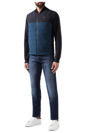 Мужской комбинированный жилет Z ZEGNA синего цвета, арт. VT498/ZZT885 | Фото 2 (Материал утеплителя: Шерсть; Мужское Кросс-КТ: Верхняя одежда; Длина (верхняя одежда): Короткие; Кросс-КТ: Куртка; Стили: Кэжуэл; Статус проверки: Проверена категория; Материал внешний: Шерсть, Синтетический материал)