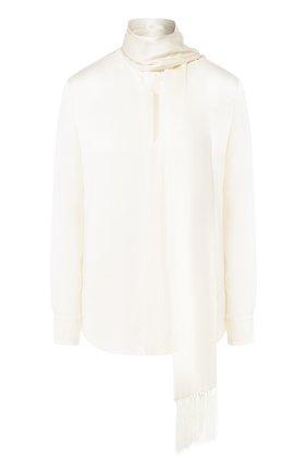 Женская шелковая блузка RALPH LAUREN бежевого цвета, арт. 290775997 | Фото 1