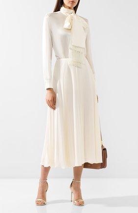 Женская шелковая блузка RALPH LAUREN бежевого цвета, арт. 290775997 | Фото 2