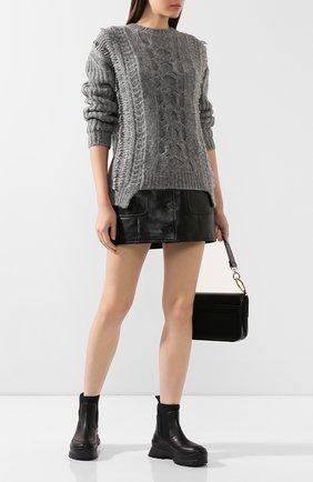 Женская шерстяной свитер STELLA MCCARTNEY серого цвета, арт. 592497/S2125 | Фото 2