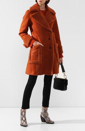 Женская дубленка CHLOÉ оранжевого цвета, арт. CHC19ACM28204 | Фото 2
