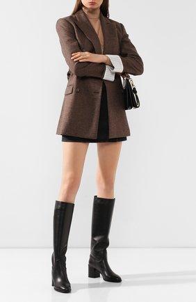 Женские кожаные сапоги TOD'S черного цвета, арт. XXW83B0BP40MID | Фото 2