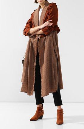 Женские замшевые ботинки valentino garavani rockstud VALENTINO коричневого цвета, арт. SW0S0S04/GEF | Фото 2